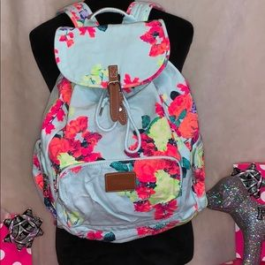 RARE Victoria's Secret Pink Floral Backpack